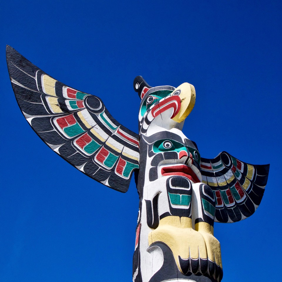 Duncan, Totem, Vancouver Island, Canada