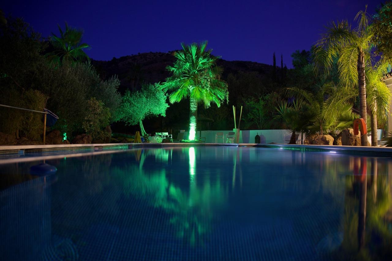 Cortijo Vista Alora, night, Andalusia, Spain