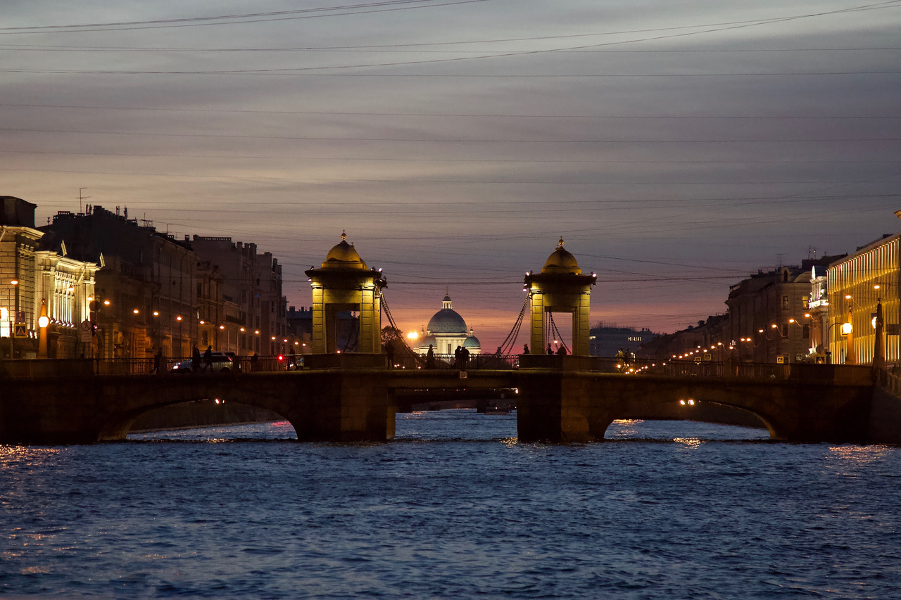Lomonosov Bridge, St Petersburg, Russia