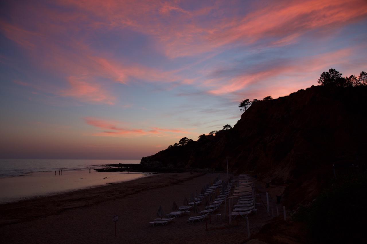 Olhos de Água sunset Algarve, Portugal