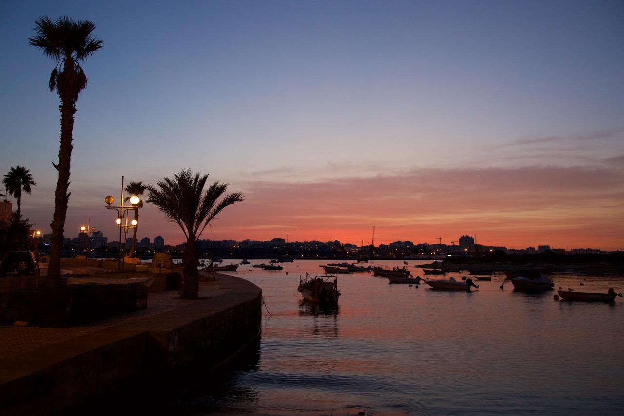 Ferragudo sunset Algarve, Portugal