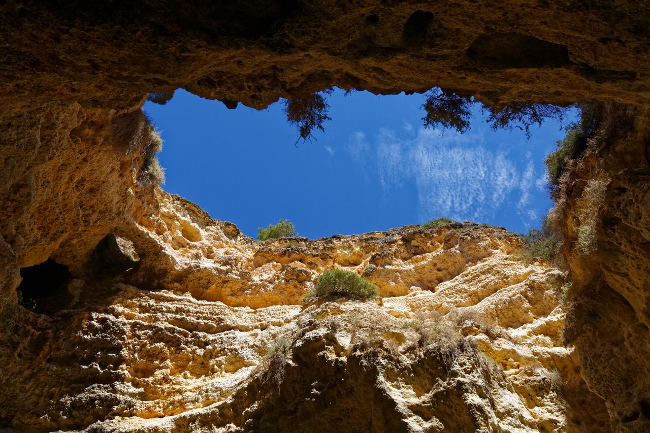 The beautiful caves of Benagil, Algarve, Portugal