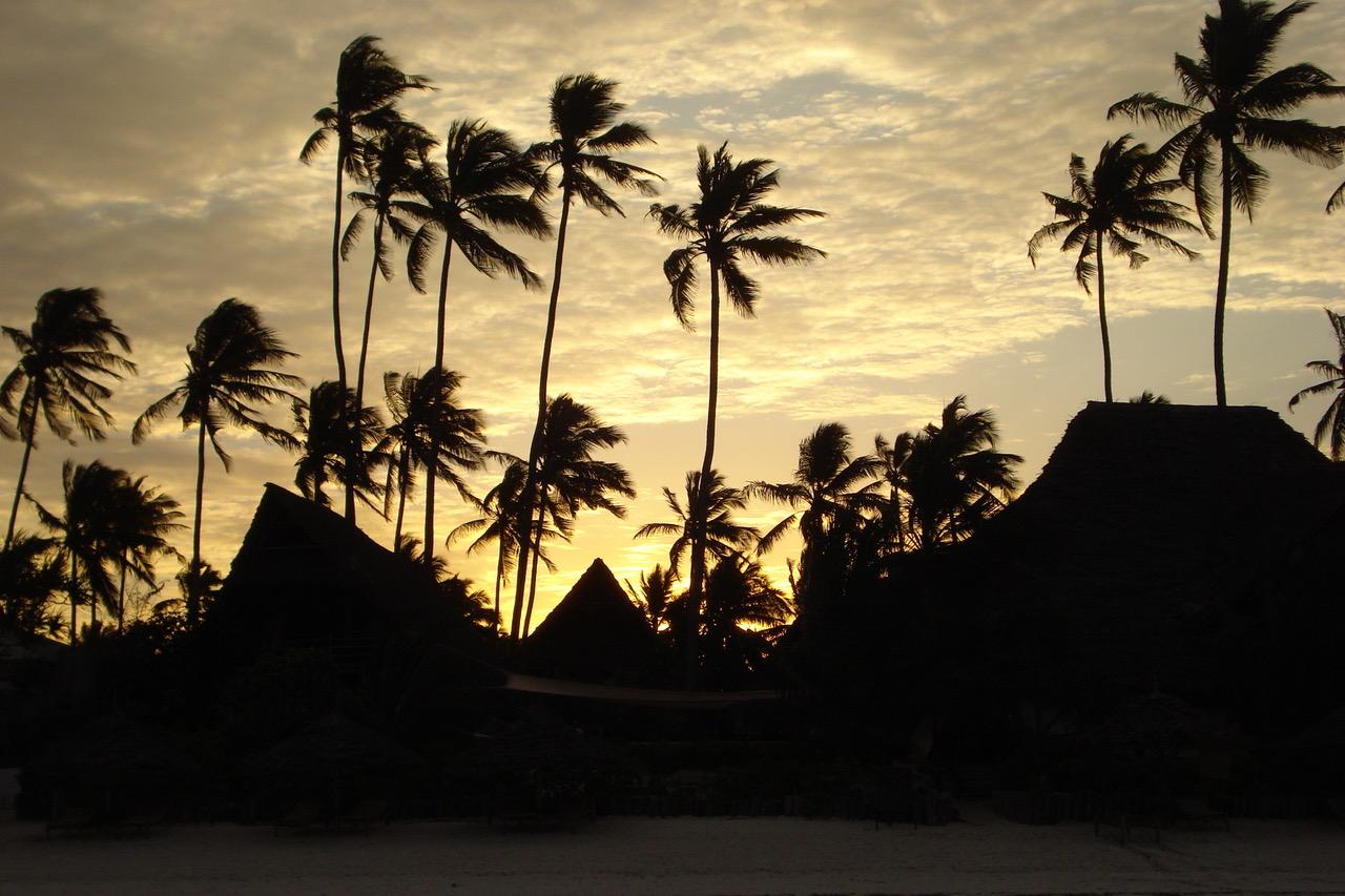 Sunset at Sunshine Hotel Zanzibar, Tanzania