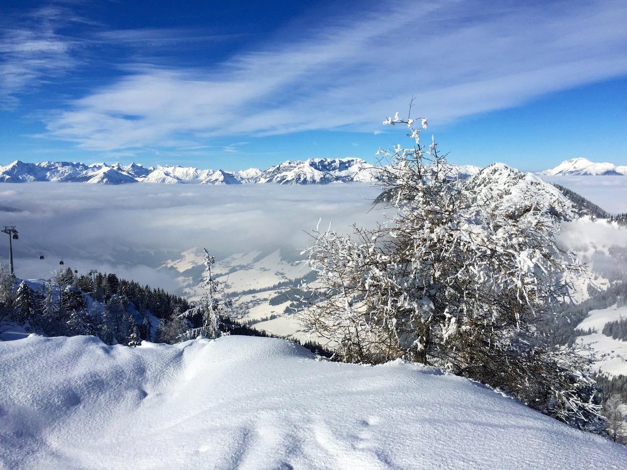 Alpbach ski panorama Austria