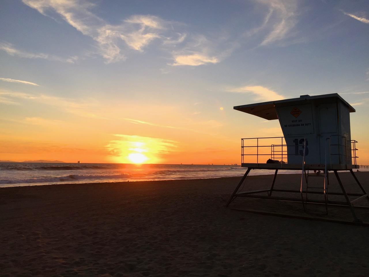 Sunset at Sun City USA Huntington Beach California