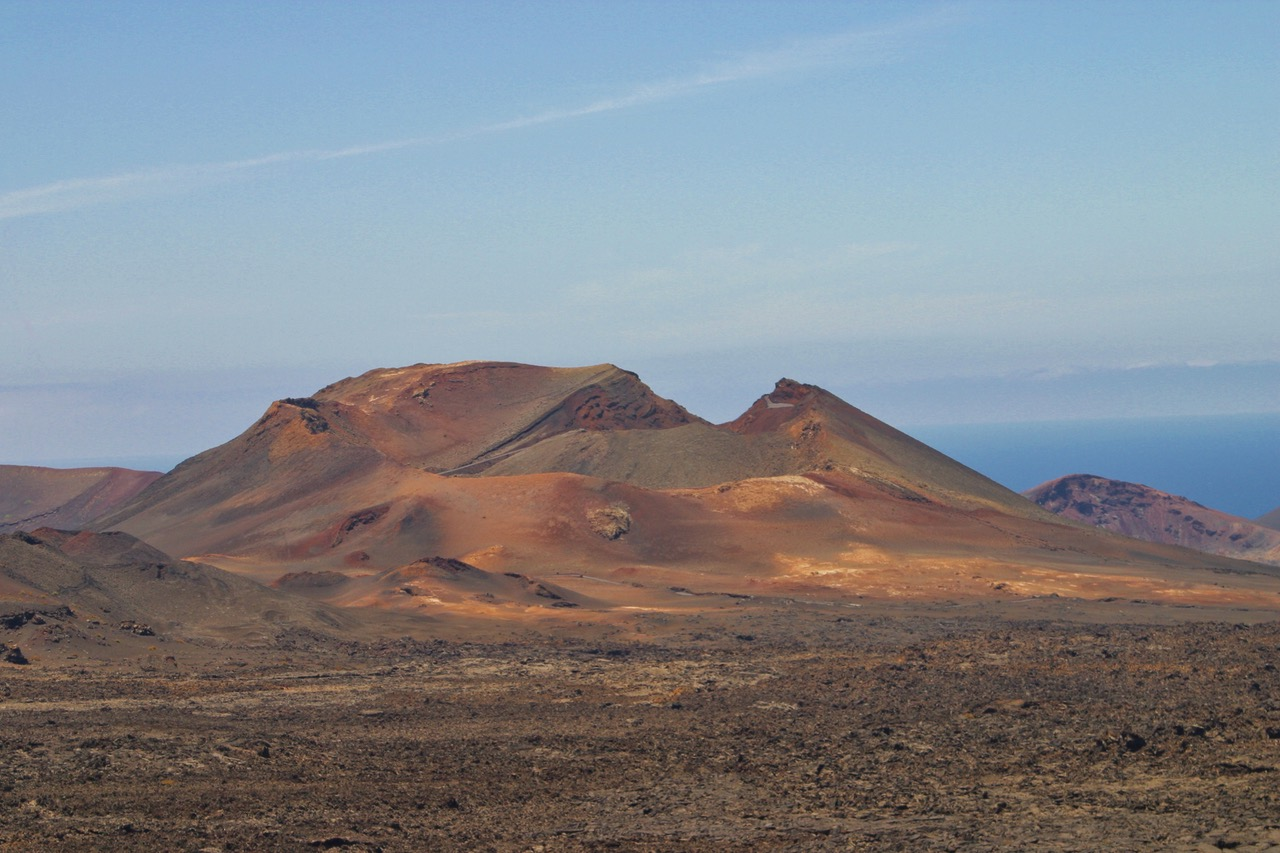 Typical landscape at Timanfaya National Park, Lanzarote at