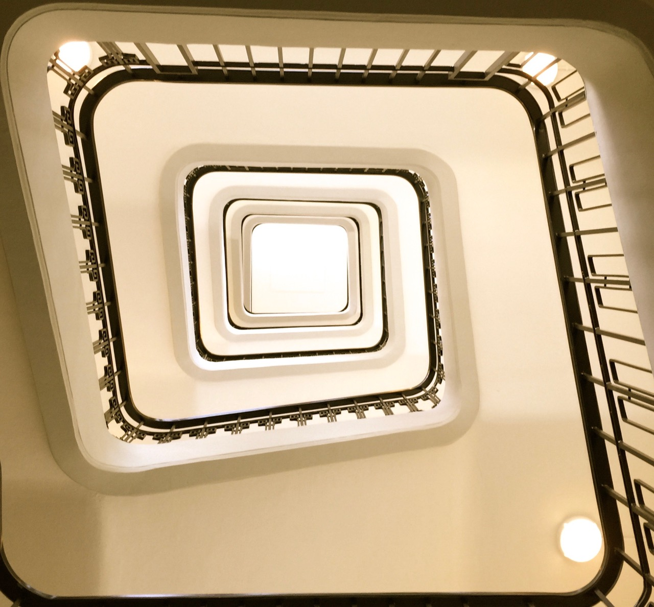 The staircase in the Hirsch Building on Leidseplein
