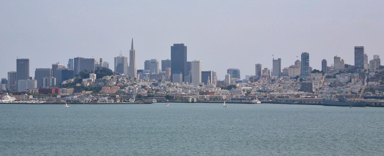 The skyline of San Francisco