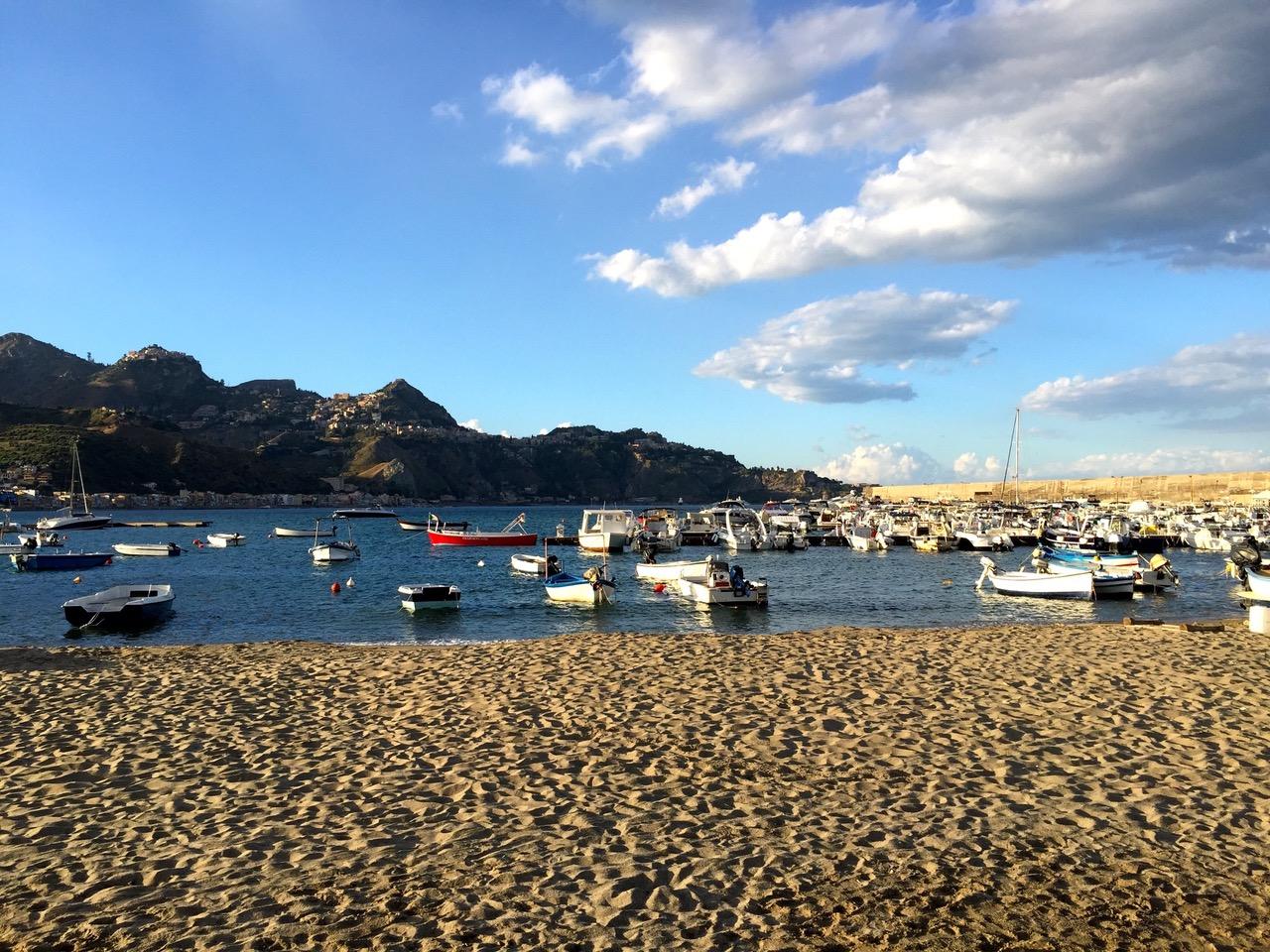 Fishing boats at Giardini Naxos, Sicily