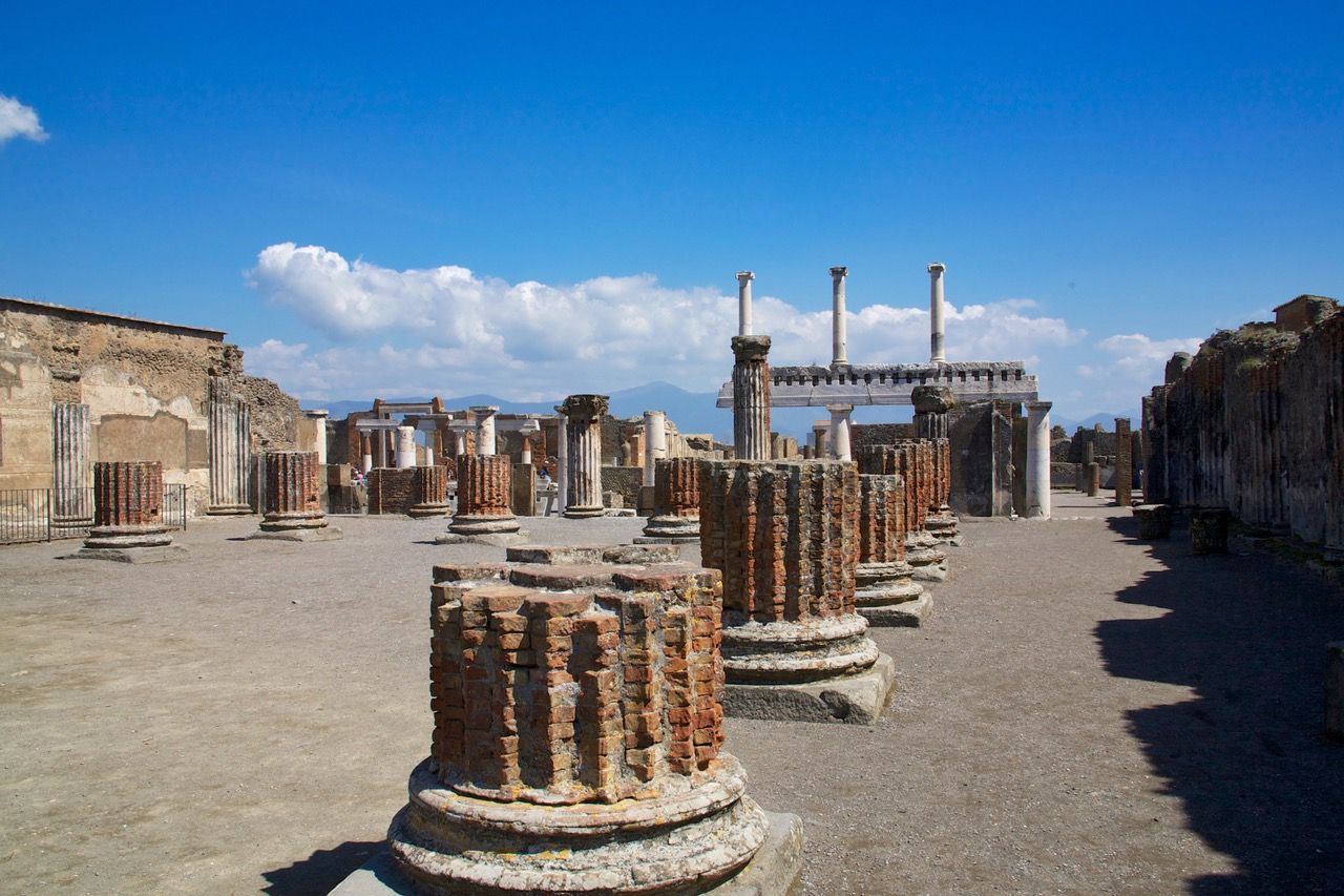 The old library in Pompeii