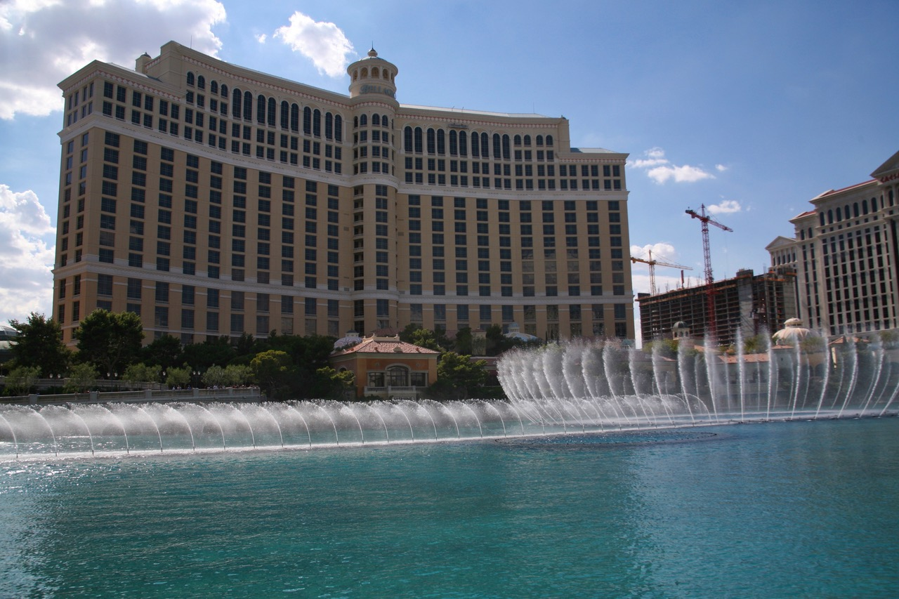 The fountains of the Bellagio Hotel in Las Vegas