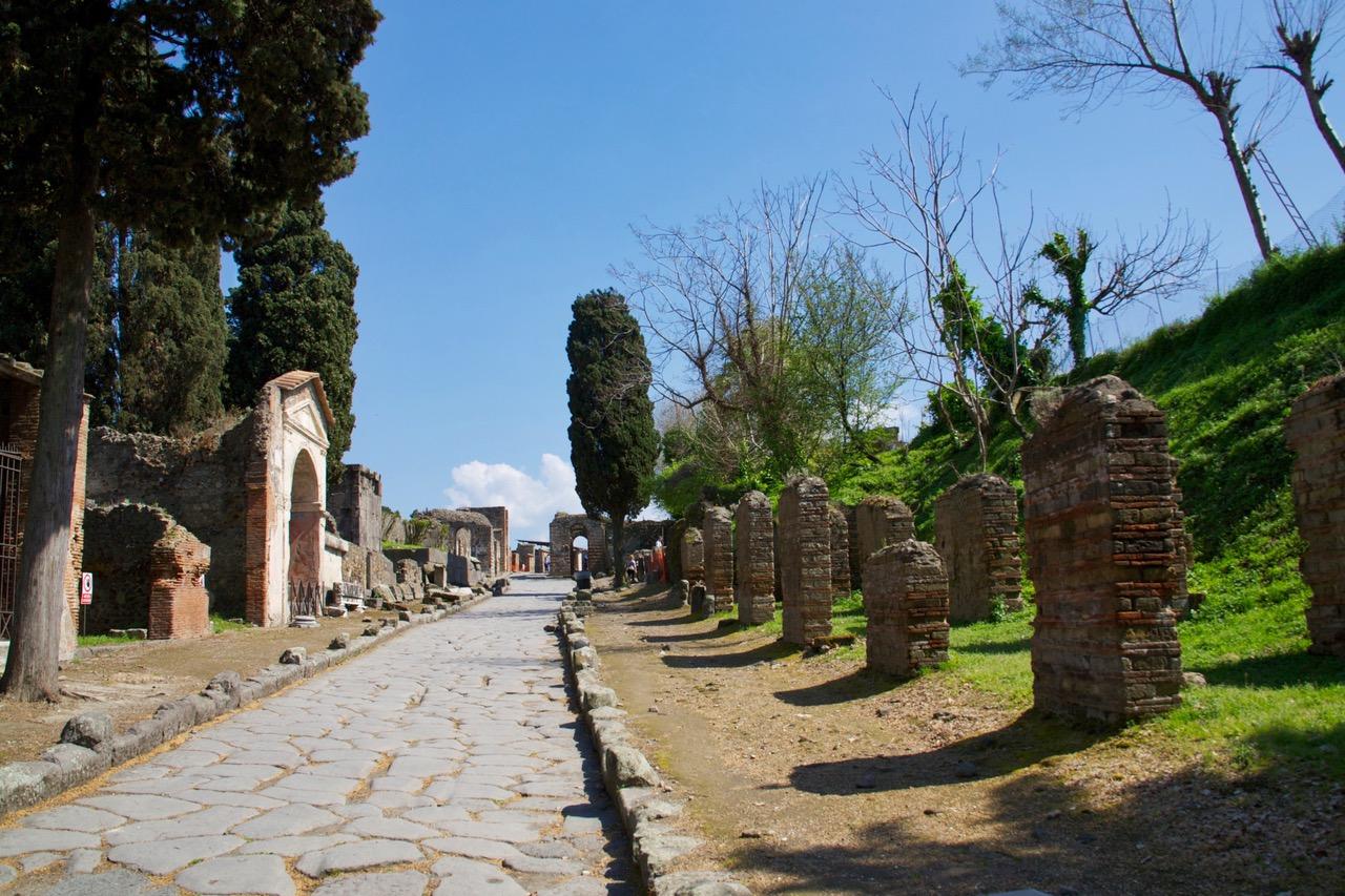 Old street in Pompeii