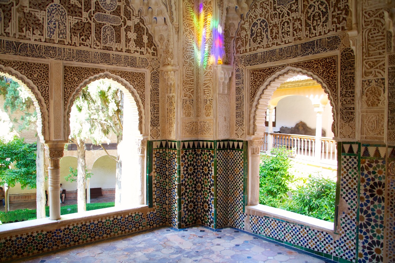 Prism lights at Nasrid Palace, Alhambra, Granada
