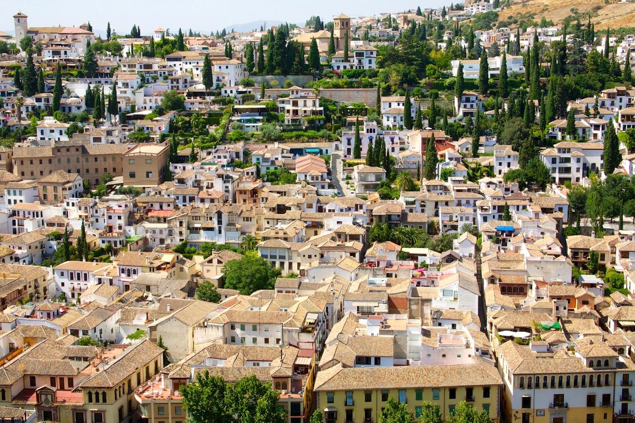 Wonderful view on Albaicin Quarter, Granada