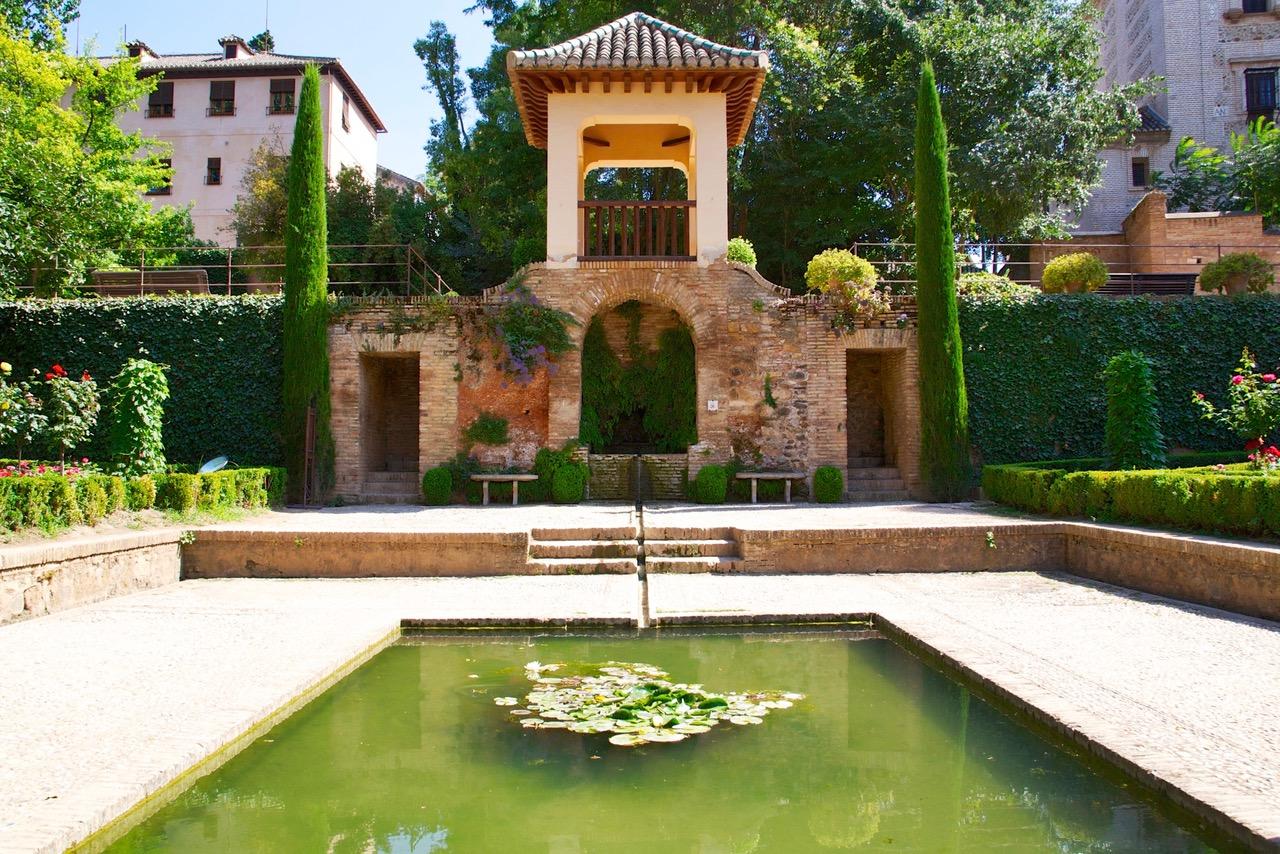Generalife Gardens in Alhambra, Granada