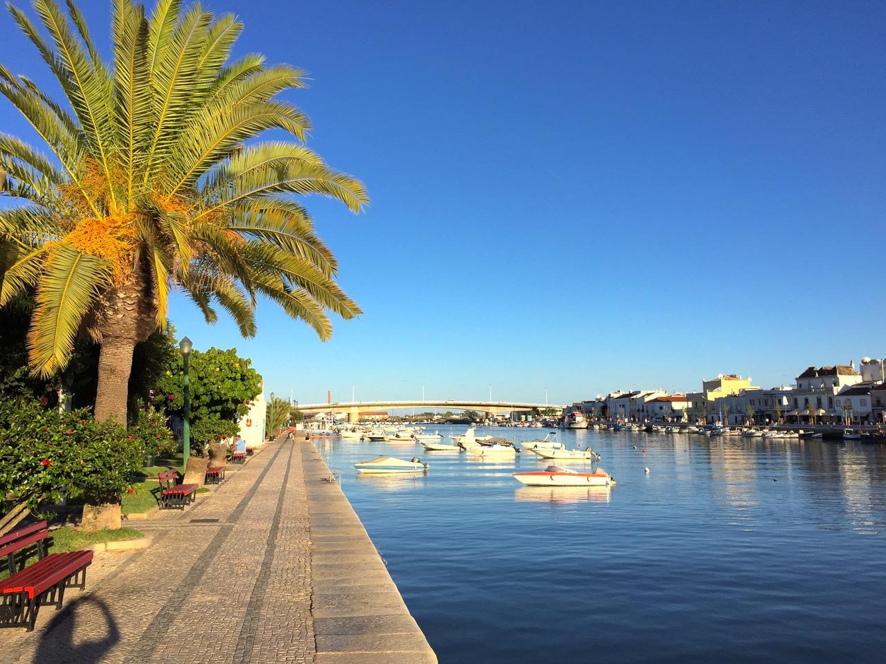 Tavira harbor, Algarve, Portugal
