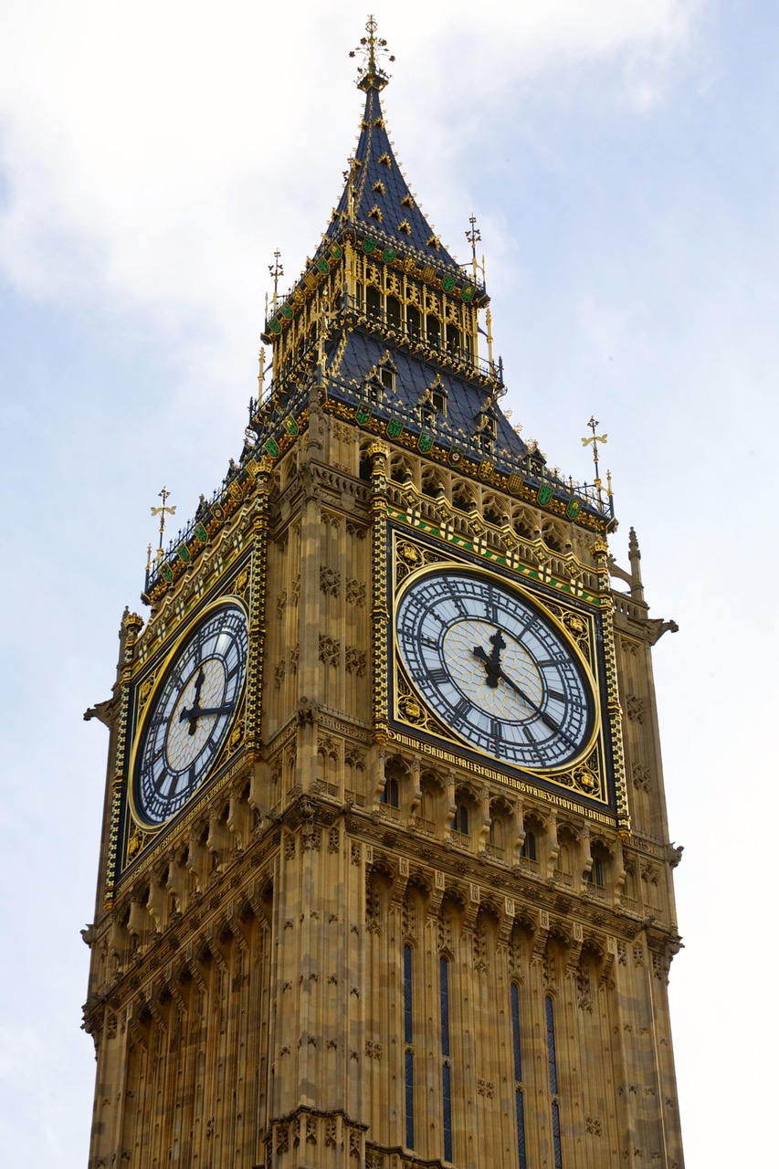 Close up of the Big Ben in London