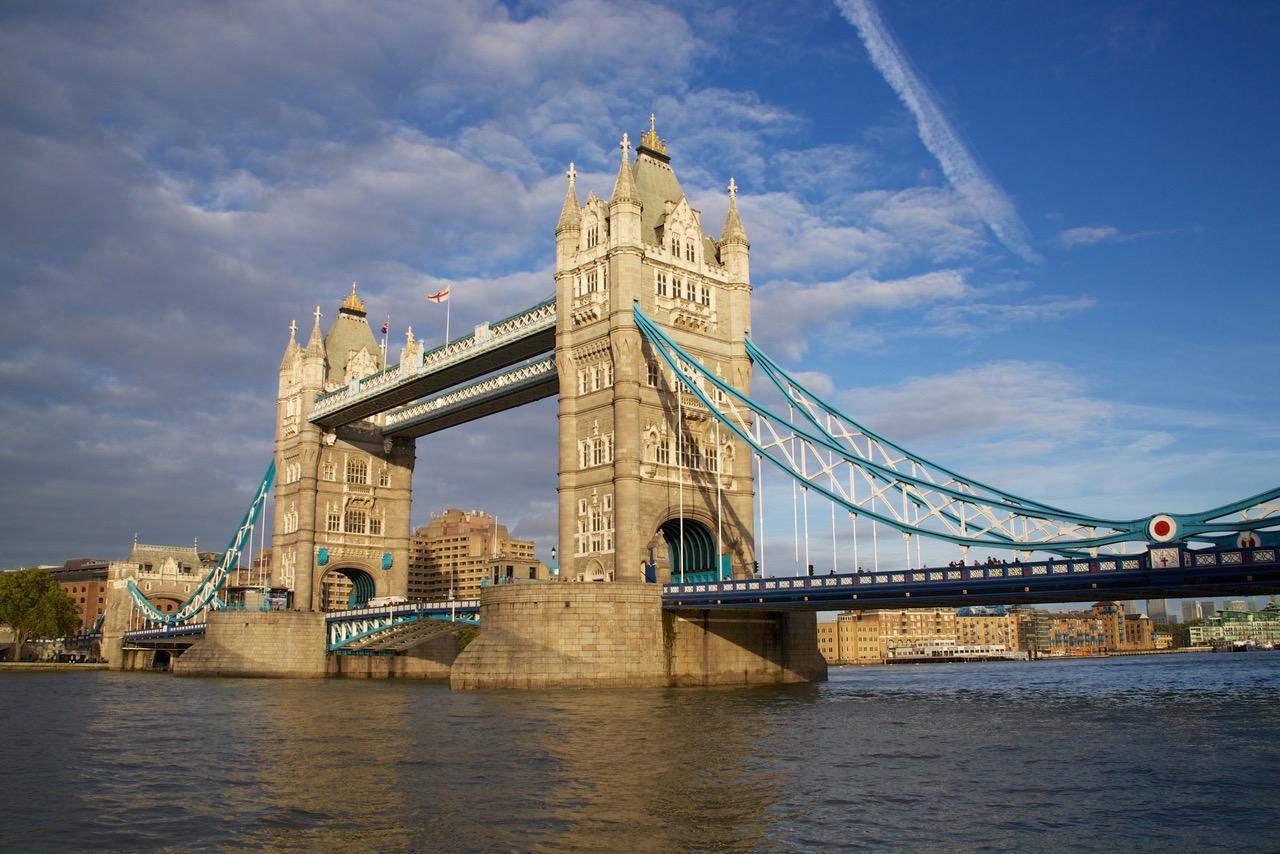 Tower Bridge catching sun in London