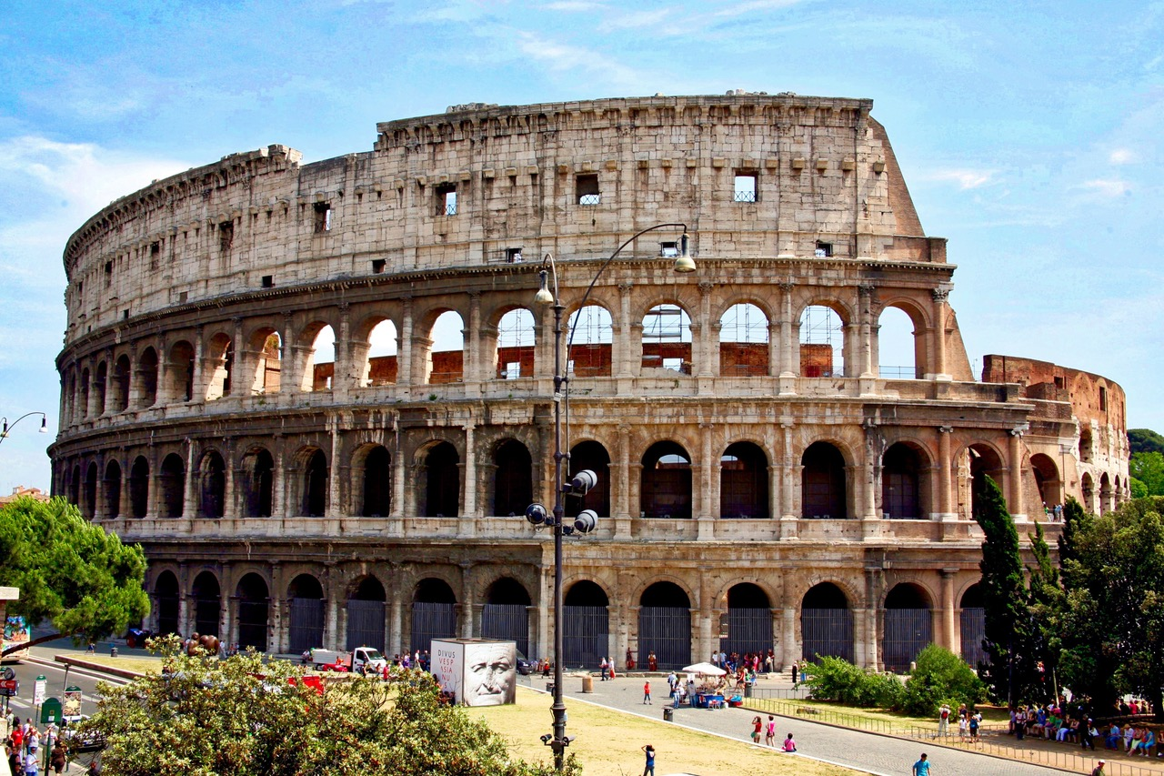 Full view on Colosseum in Rome