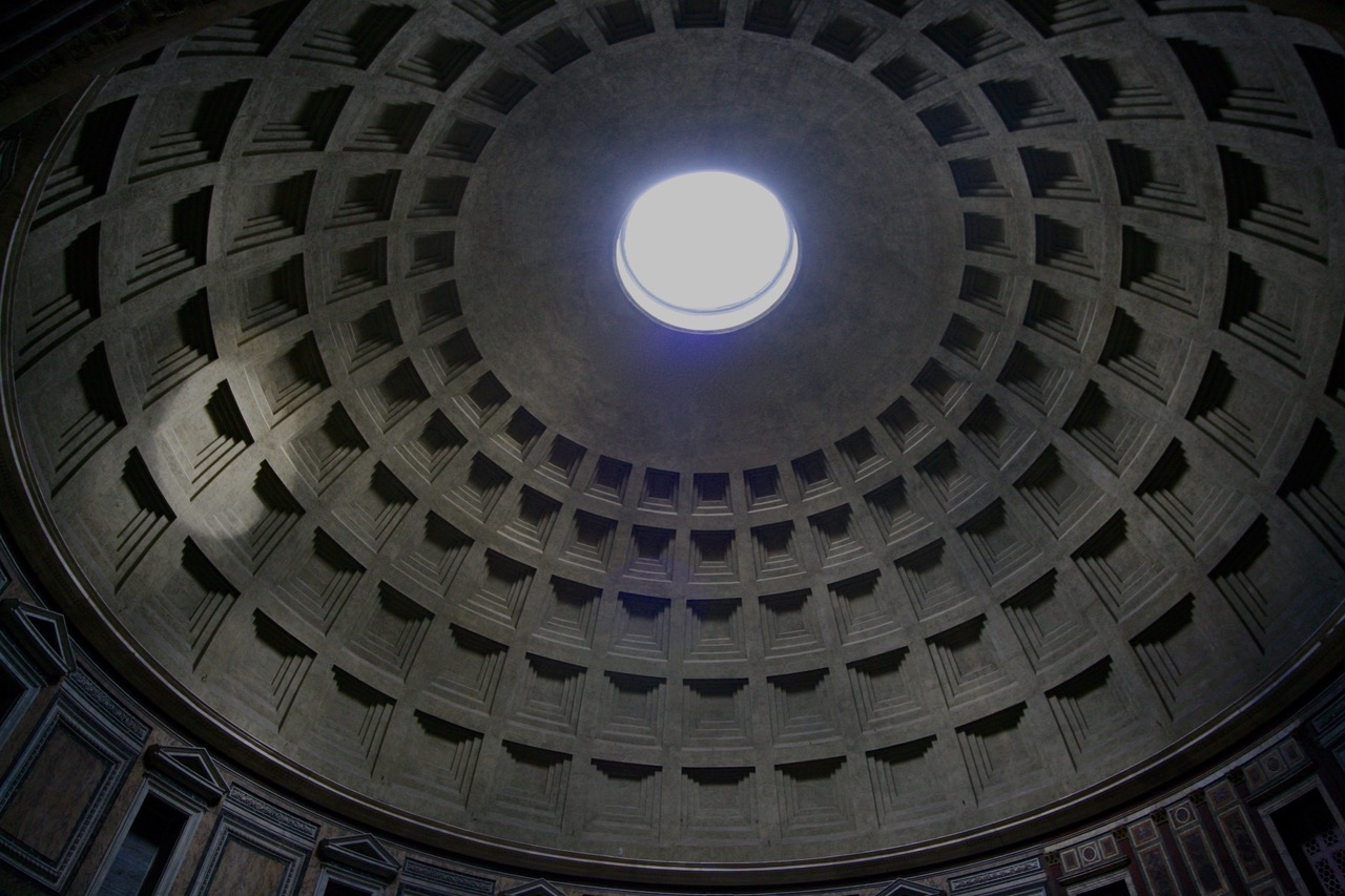 The beam of light in the Pantheon, Rome