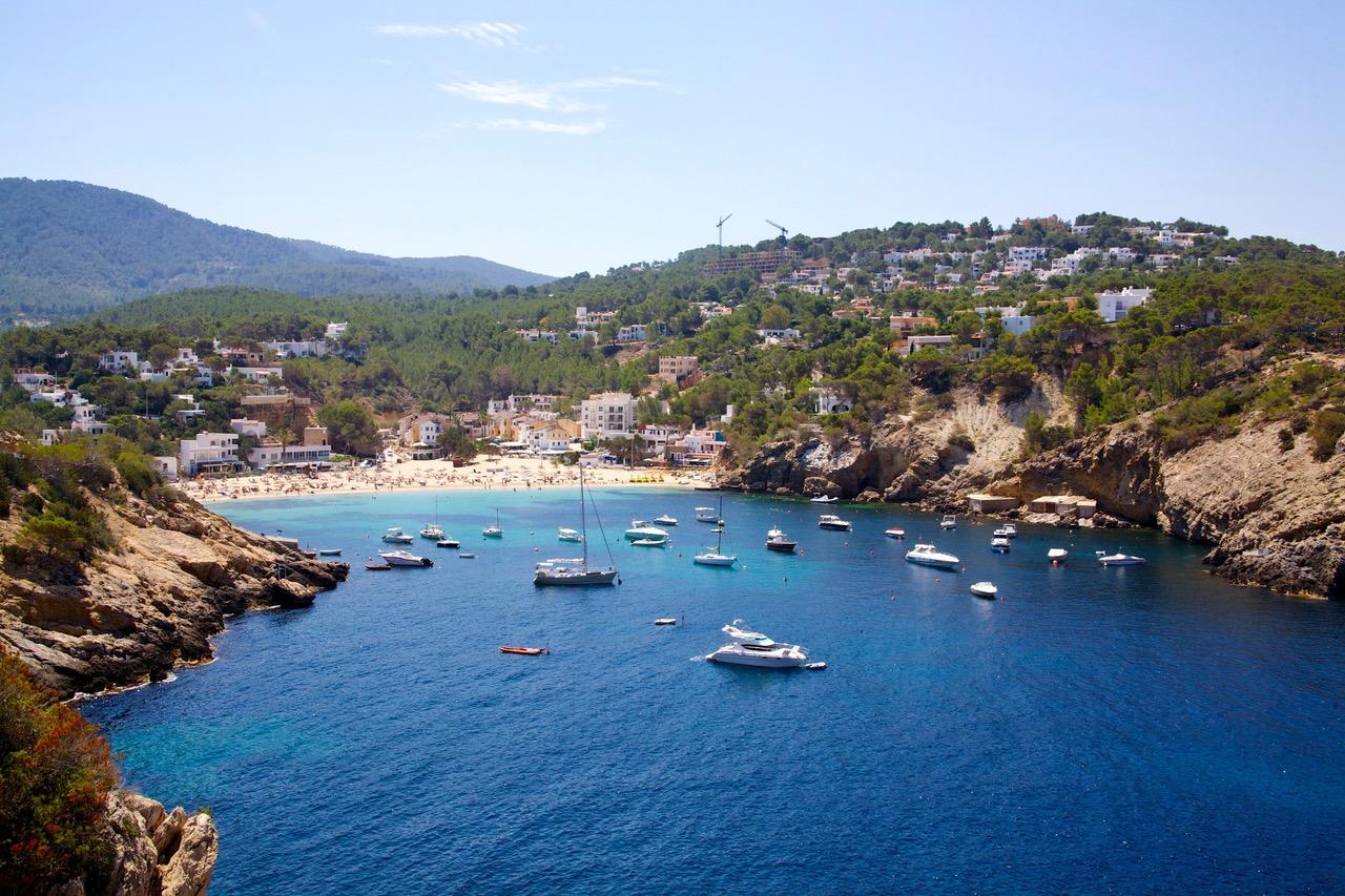Beautiful bay Cala Vadella, Ibiza