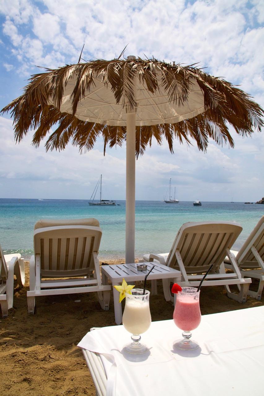 Favorite drinks at Tropicana Beach Club, Ibiza
