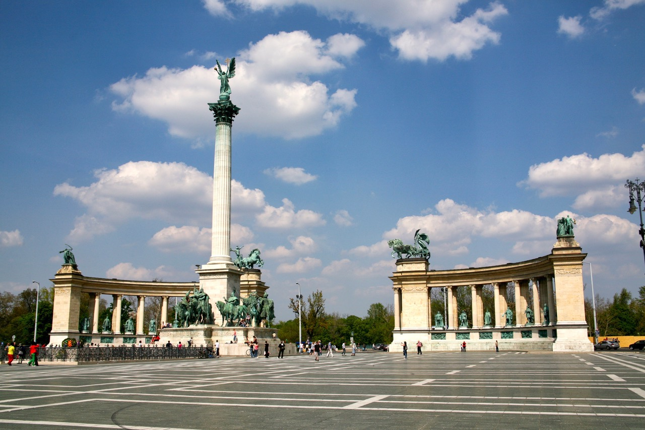 Heroe's Square in Budapest, Hungary