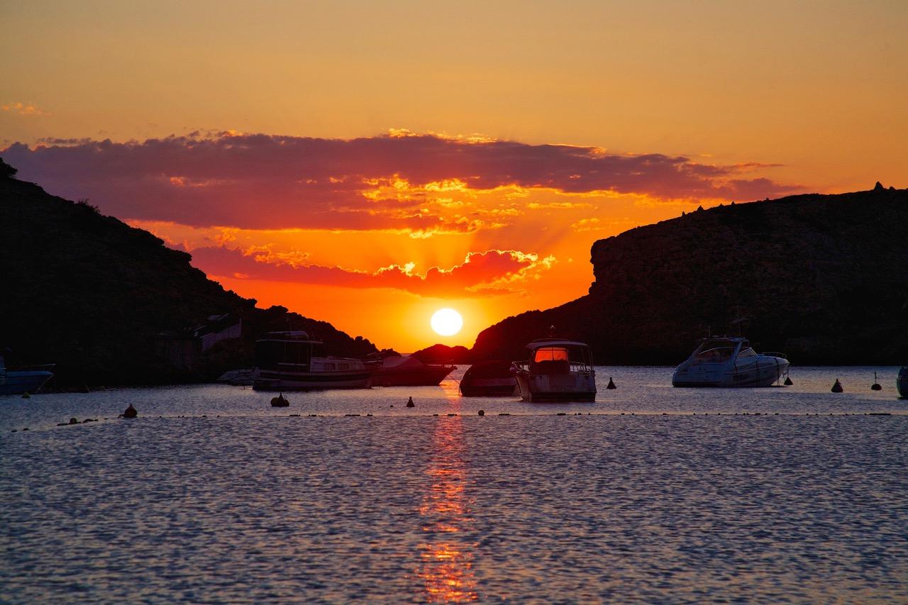 Sunset at Cala Vadella, Ibiza