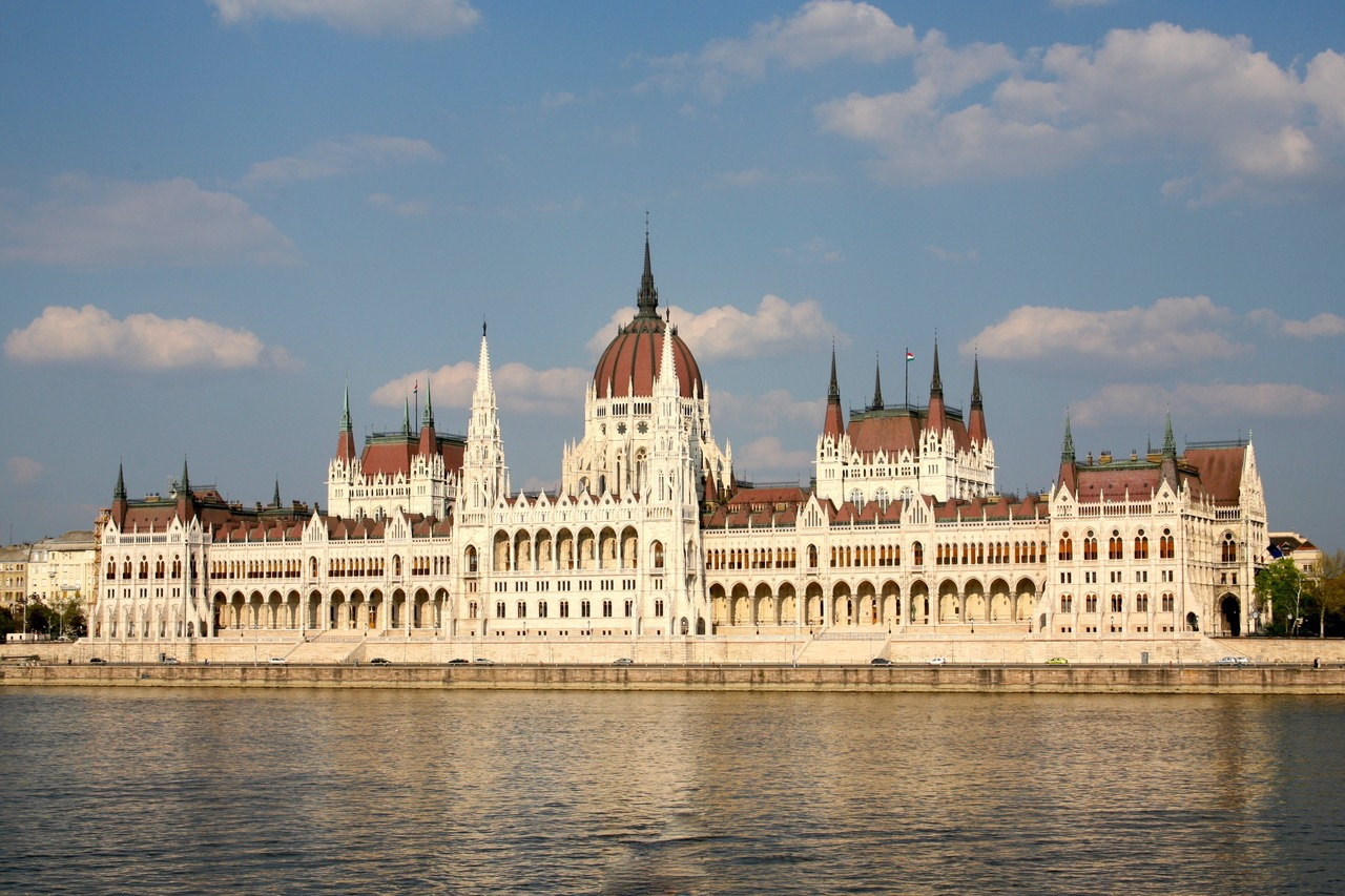 Budapest Parliament seen from Buda bank, Budapest, Hungary