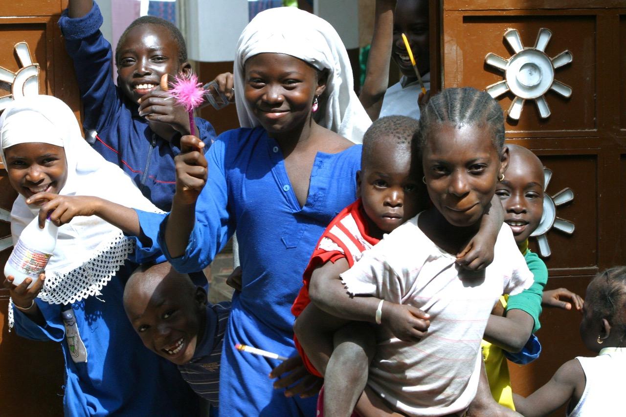 Kids at Jarjou Memorial Nursery School in Gambia