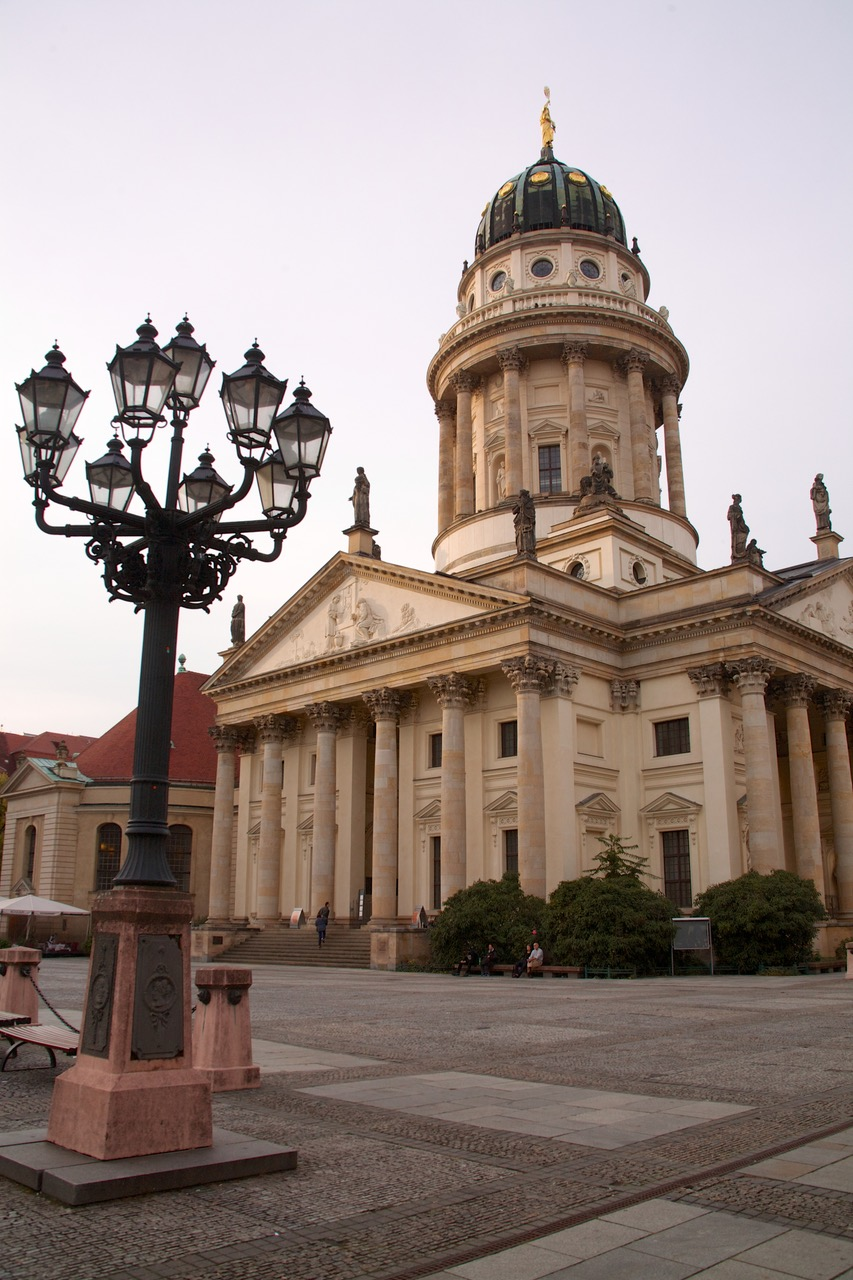 The Französischer Dom (French Cathedral) at the famous square in Berlin - The Gendarmenmarkt