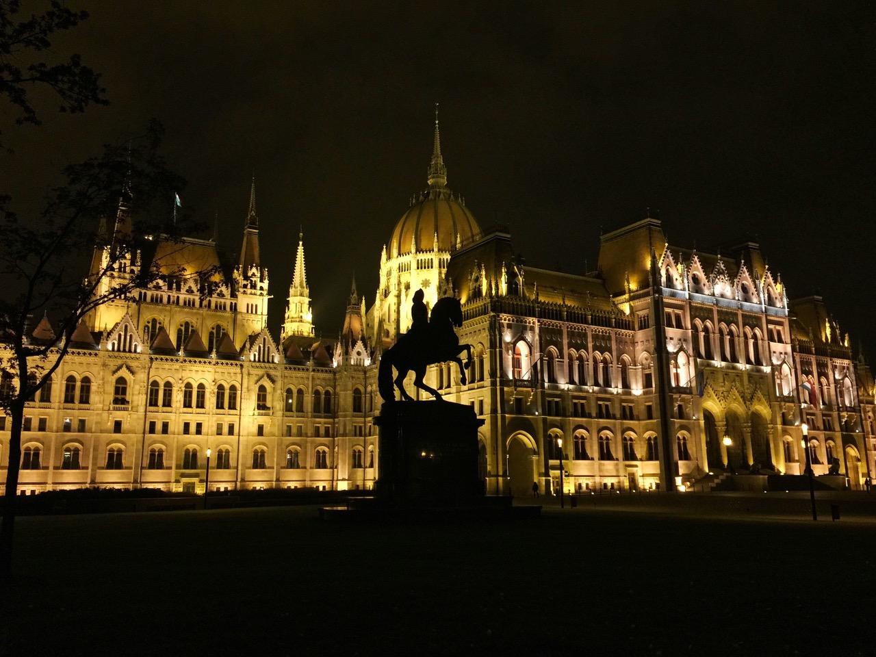 Budapest Parliament at night, Budapest, Hungary