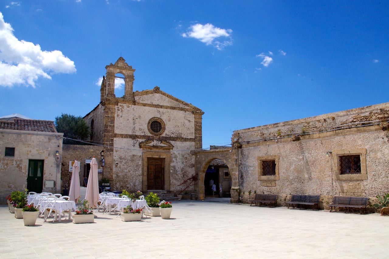 Piazza Regina Margherita in Marzamemi, Sicily