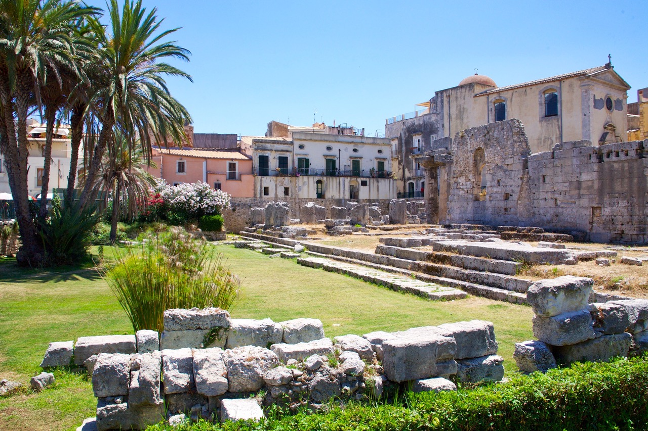 The Temple of Apollo in Syracusa, Sicily