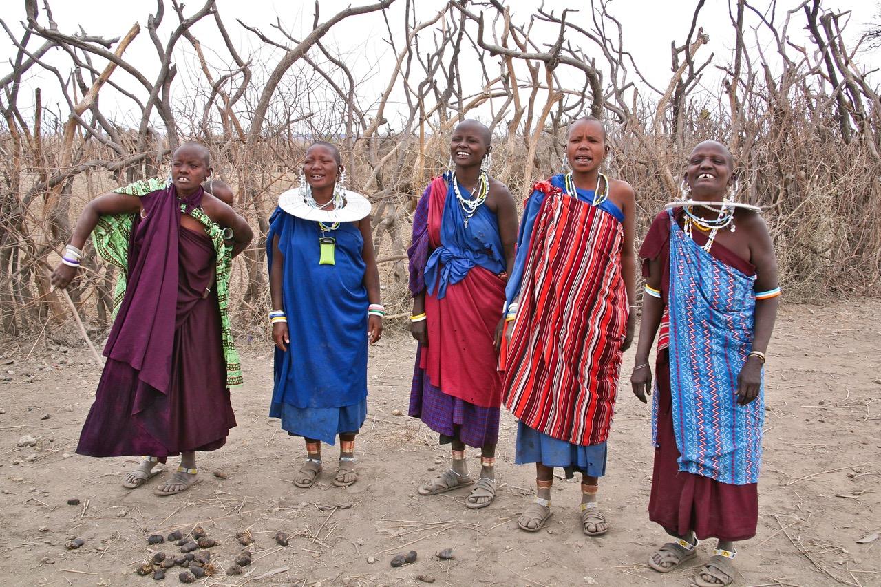 Most friendly people at a little Maasai village near Lake Manyara