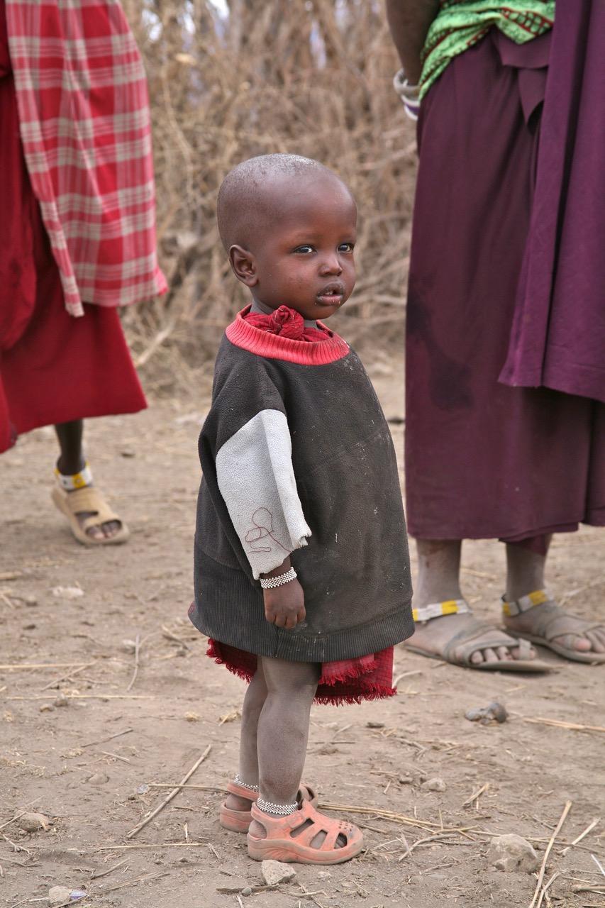 Lovely little girl at a little Maasai village near Lake Manyara, Tanzania