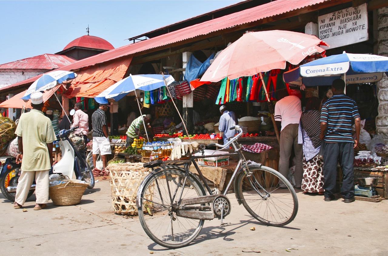 Local market in Stone Town, Zanzibar
