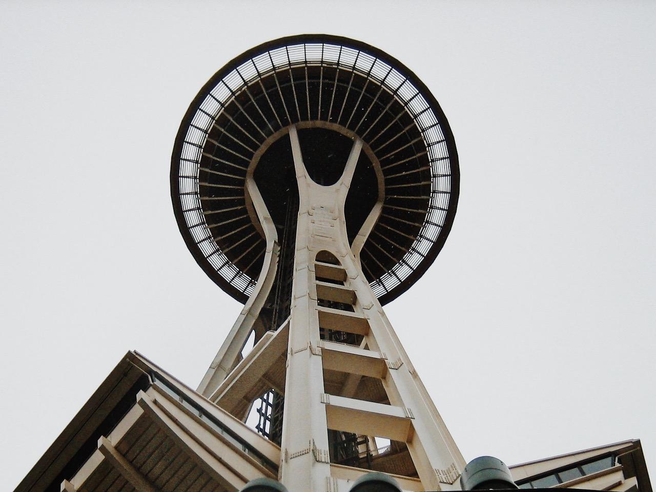 Space Needle from below, Seattle