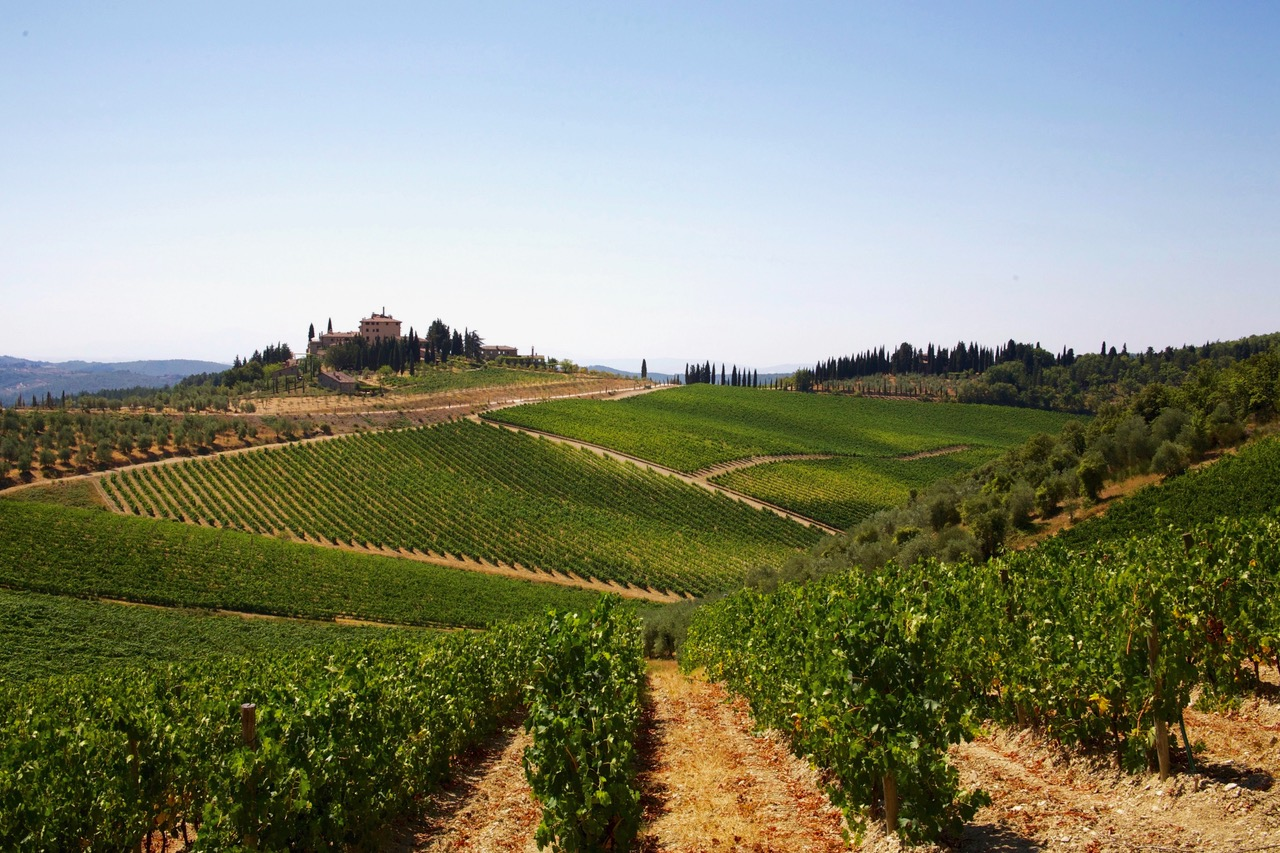 Driving through the Chianti hills in Tuscany, Italy; NiceSpots2Go
