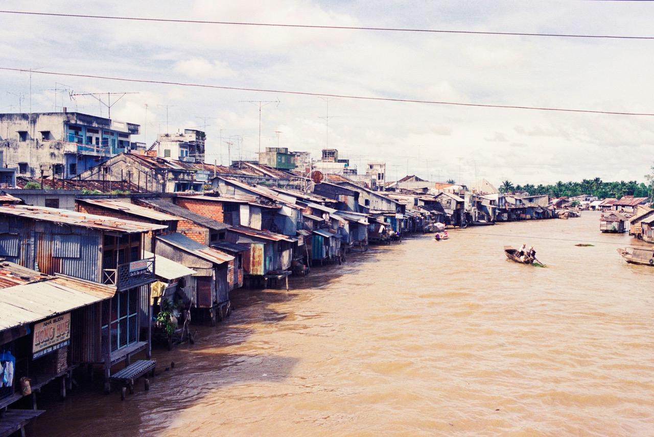 Village at Cai River just outside Nha Trang, Vietnam