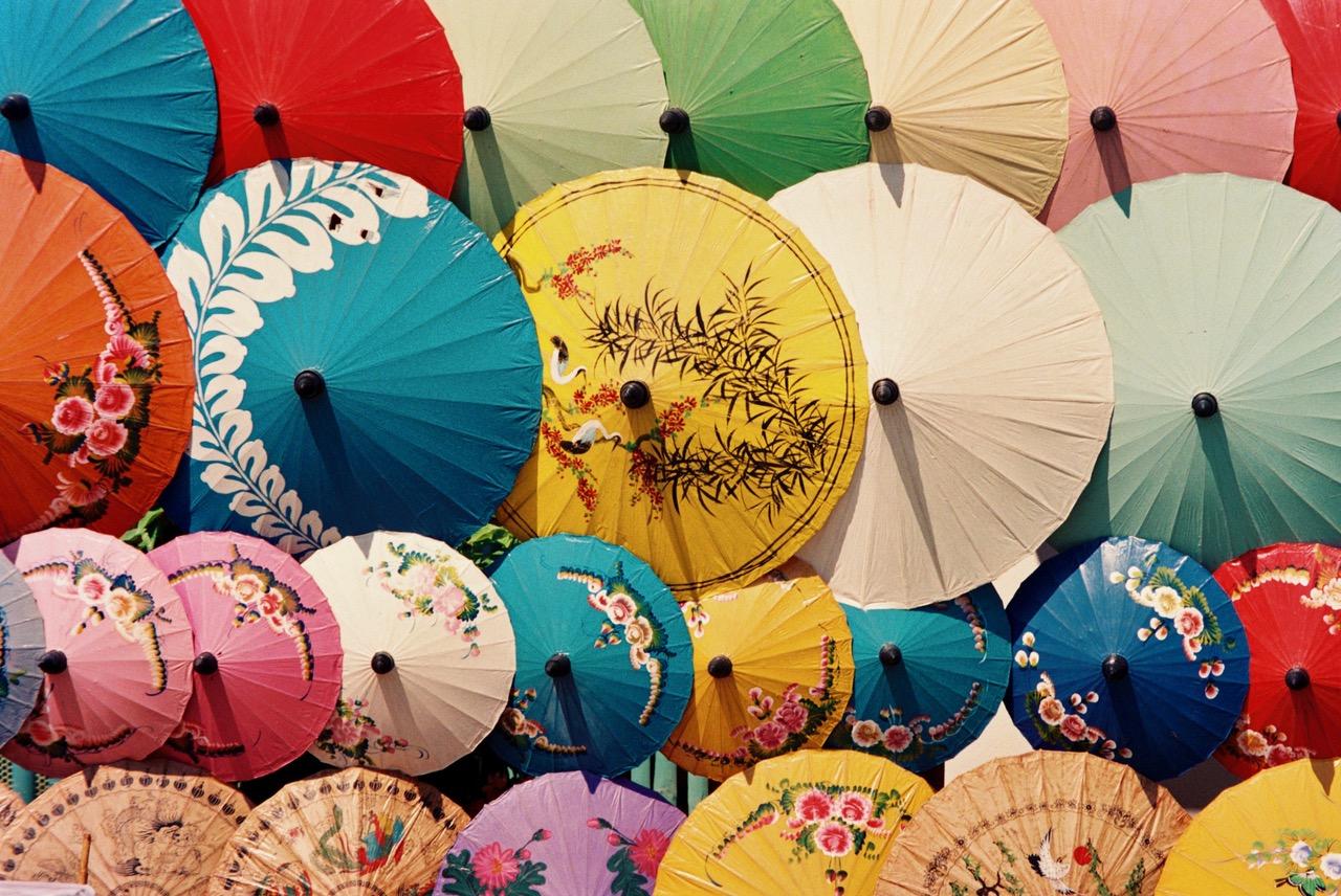 Umbrella Village in Chiang Mai