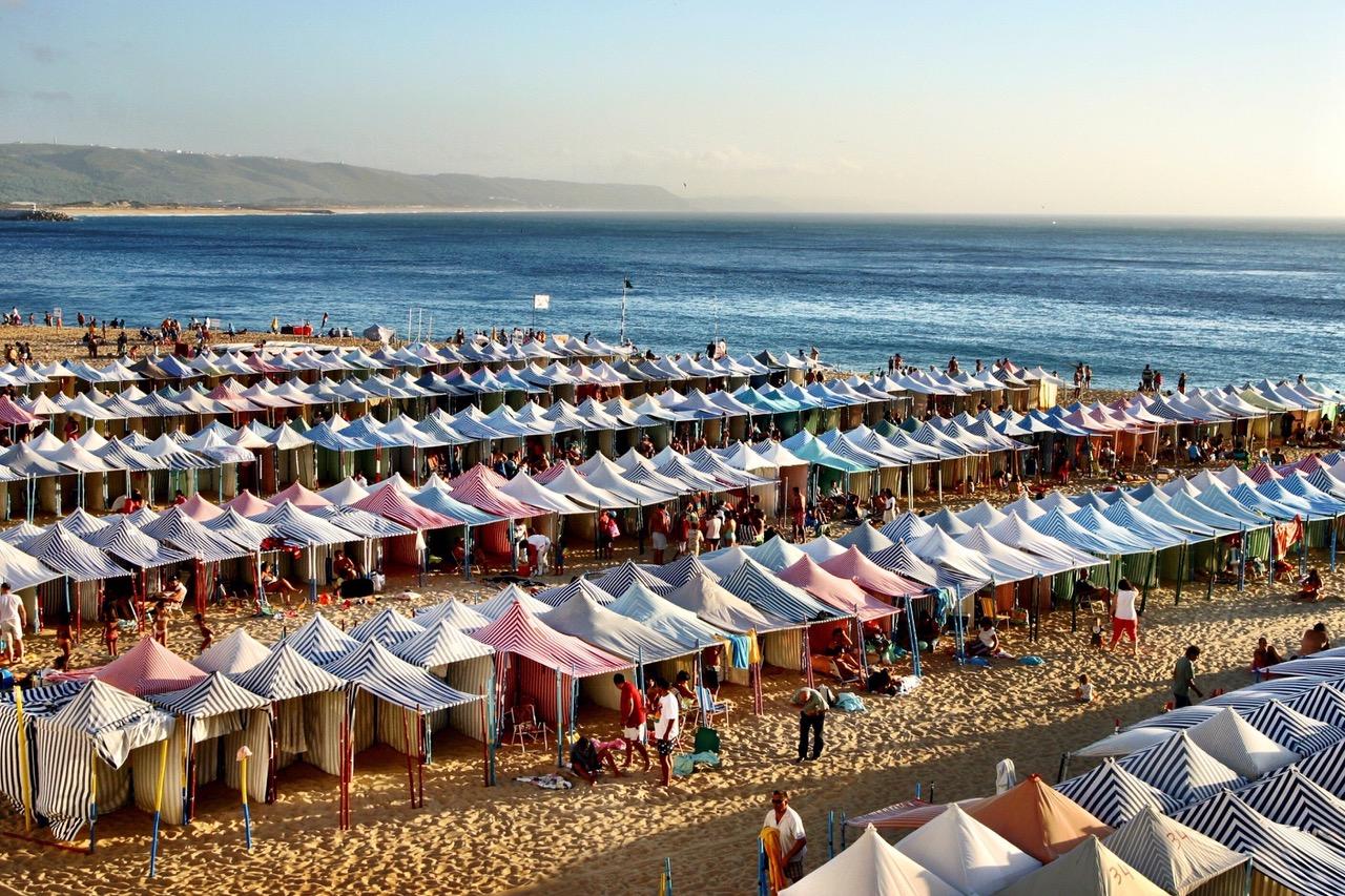 Beach Praia de Nazaré, Portugal