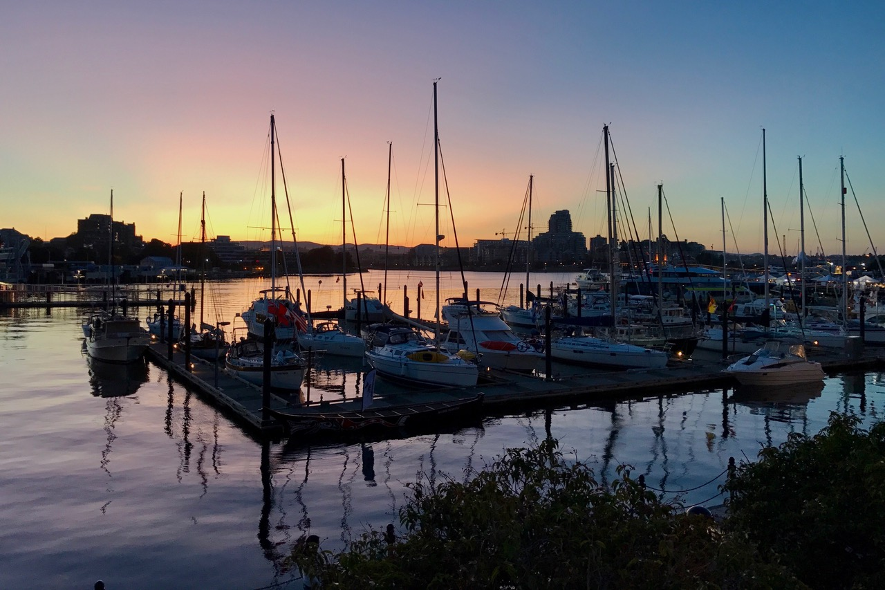 Victoria Inner Harbour, sunset, Vancouver Island