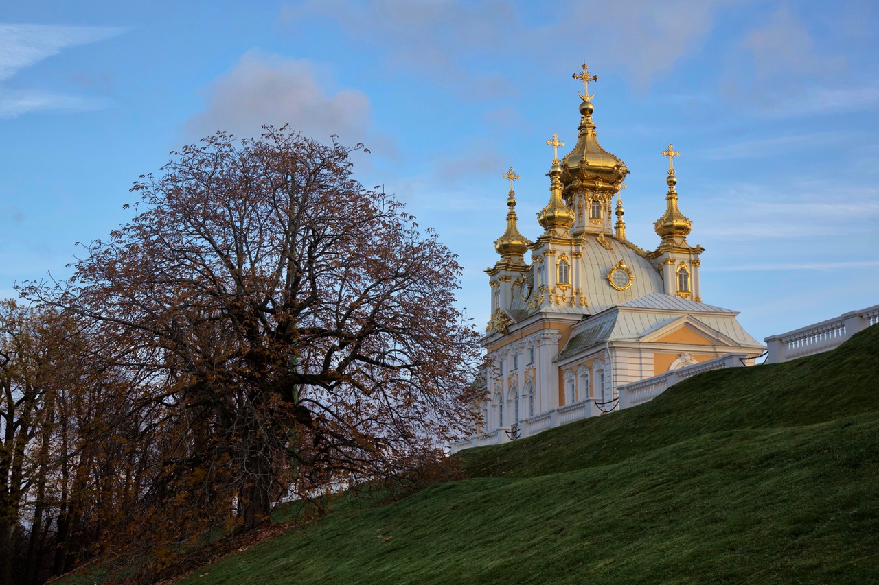 Golden Domes at Peterhof, Russia