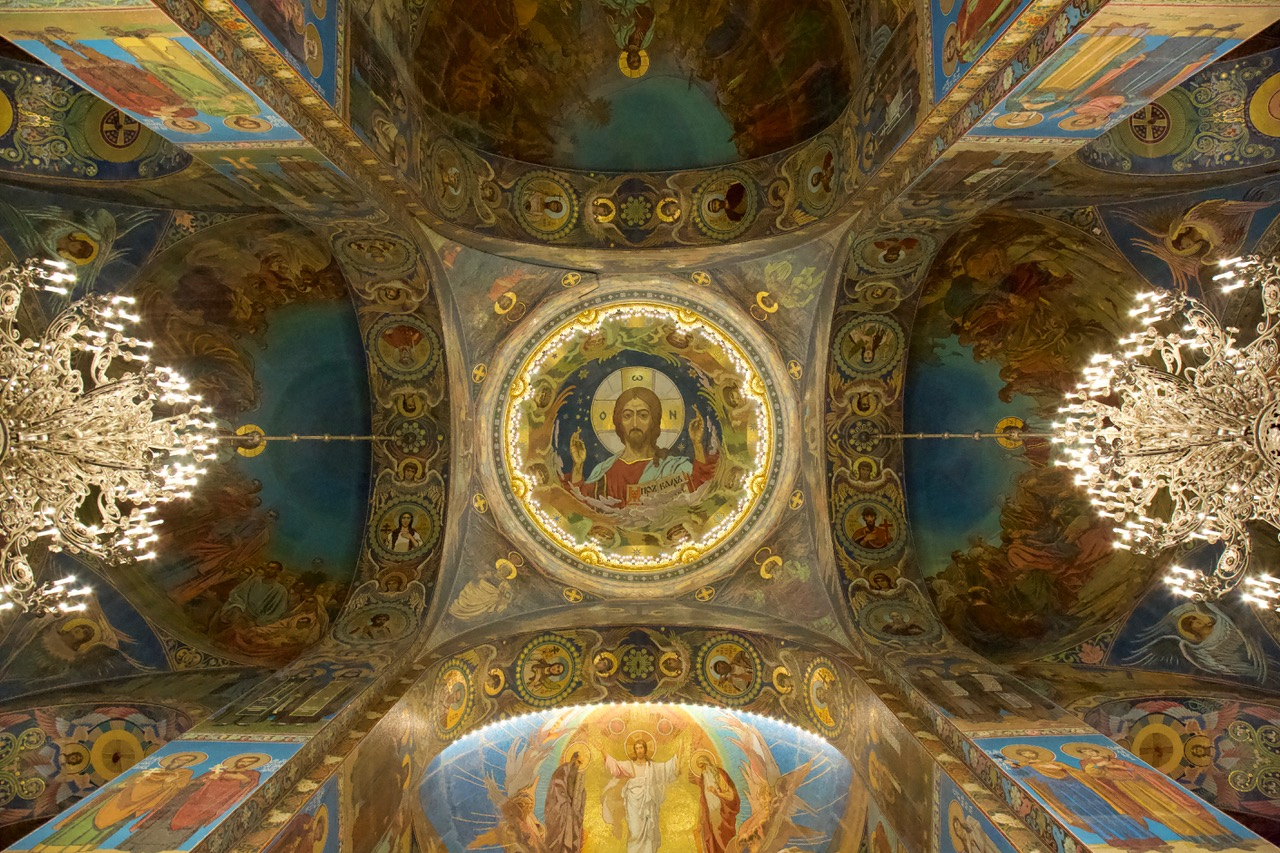 The Church of the Savior on Spilled Blood, Ceiling, Saint Petersburg