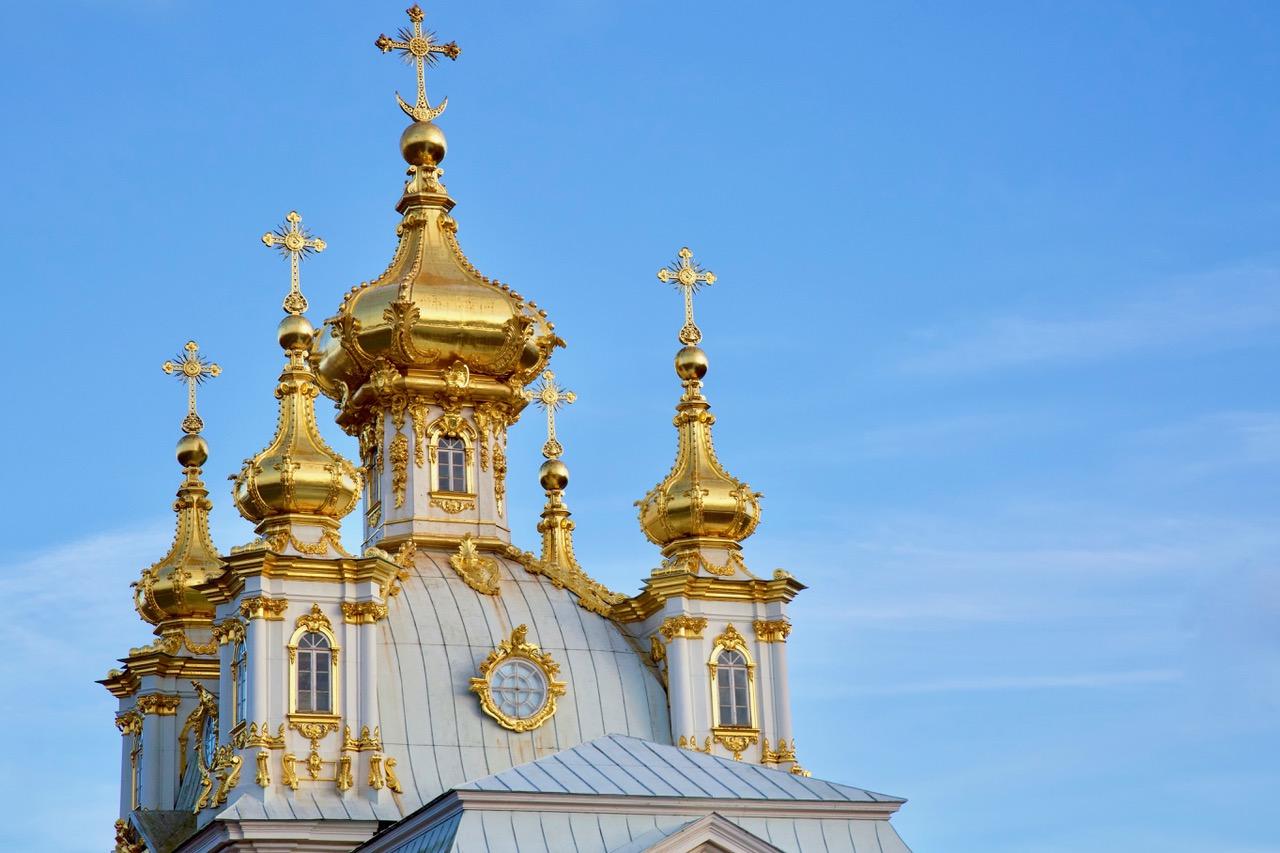 Dome of Grand Palace, Peterhof, Russia